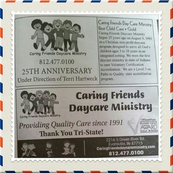 Caring Friends Daycare Ministry earned Evansville Courier and Press ...